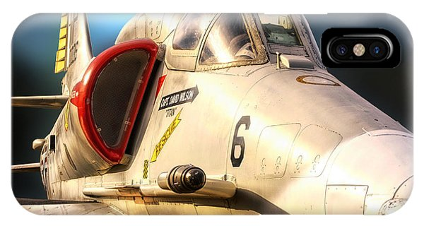 A4 Skyhawk Attack Jet IPhone Case
