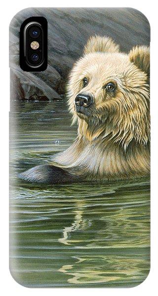 Brown Bear iPhone Case - Aaaaah by Paul Krapf