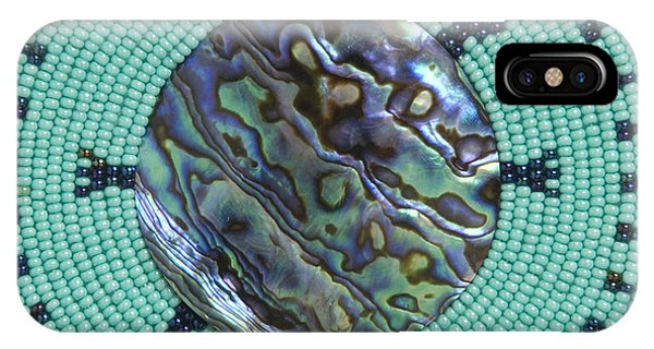 IPhone Case featuring the mixed media Abalone Shell by Douglas K Limon