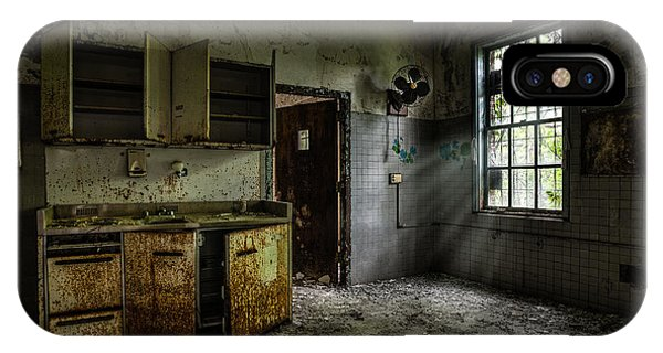 Abandoned Building - Old Asylum - Open Cabinet Doors IPhone Case