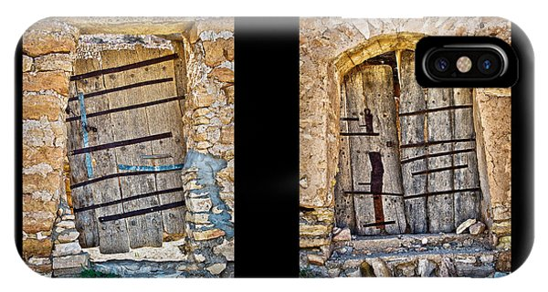 Abandoned Houses iPhone Case - Abandoned Diptych by Delphimages Photo Creations