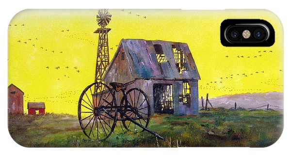 Damage iPhone Case - Abandoned  Farm by Lee Piper