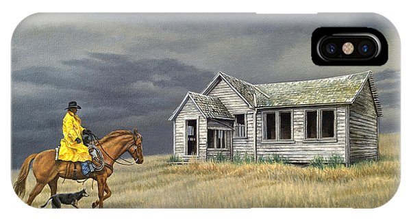 Horseman iPhone Case - Abandoned Homestead-eastern Idaho by Paul Krapf