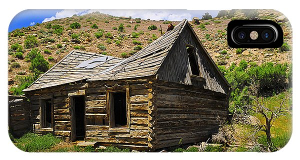 IPhone Case featuring the photograph Abandoned Log Cabin by Don and Bonnie Fink