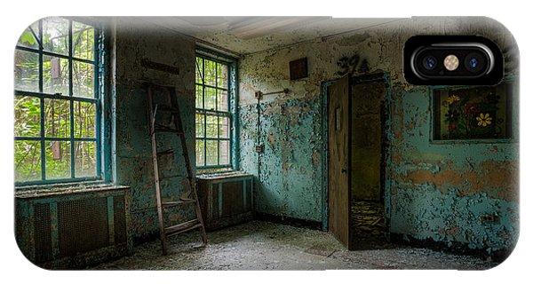Abandoned Places - Asylum - Old Windows - Waiting Room IPhone Case