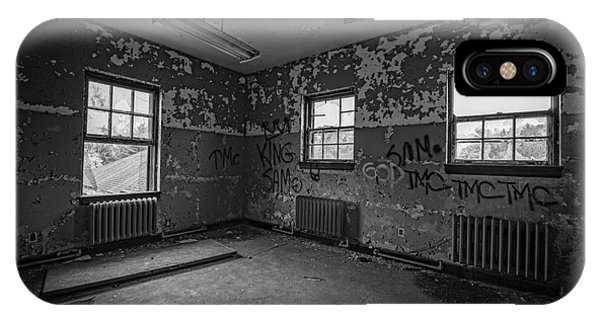 Urban Decay iPhone Case - Abandoned Room At Letchworth Bw by Michael Ver Sprill