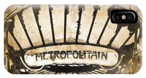 Paris Metro iPhone Case - Abbesses Metropolitain by Delphimages Photo Creations