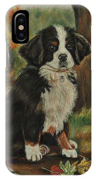 Abby - Bernese Mountain Dog Phone Case by Heather Kertzer