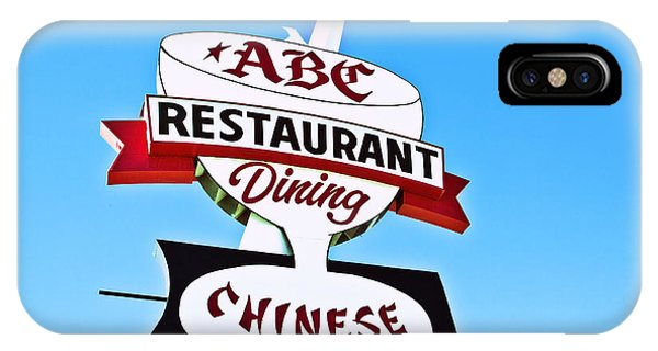Abc Restaurant Vintage Neon Sign IPhone Case