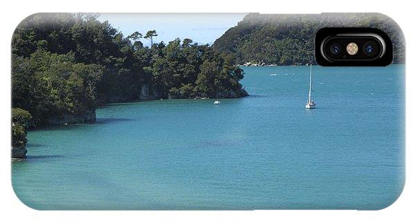 Abel Tasman Bay With Sail Boat IPhone Case
