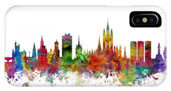 Scotland iPhone Case - Aberdeen Scotland Skyline by Michael Tompsett