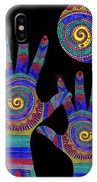 Aboriginal Hands To The Sun IPhone Case