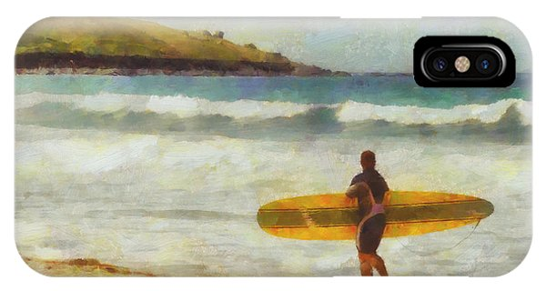 Surf iPhone Case - About To Surf by Pixel Chimp