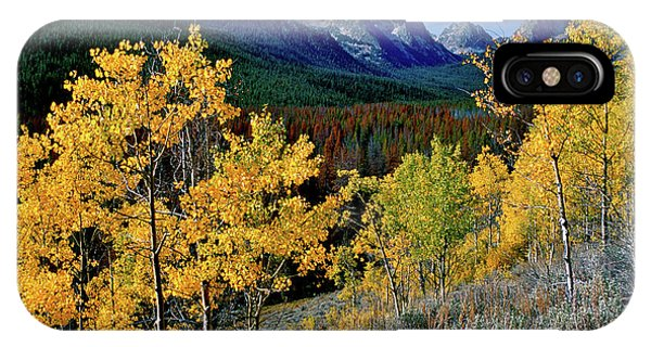Above Fishhook Creek Redfish Lake IPhone Case