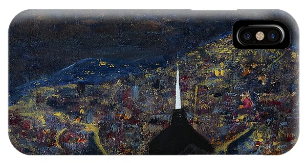 Above The City At Night IPhone Case