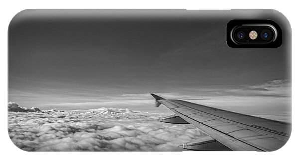Above The Clouds Bw IPhone Case