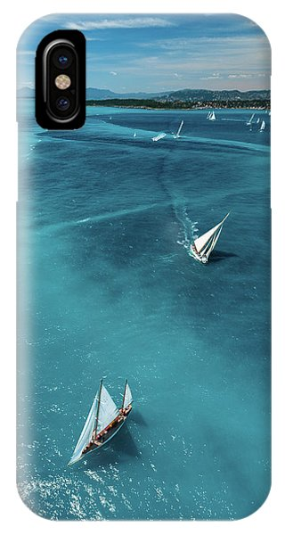 French Landscape iPhone Case - Above The Race by Marc Pelissier