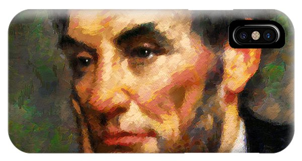 Abraham Lincoln - Abstract Realism IPhone Case