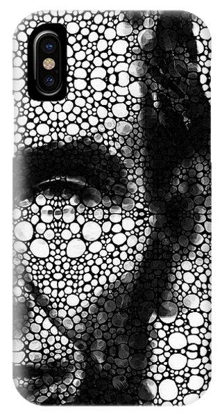 Abraham Lincoln - An American President Stone Rock'd Art Print IPhone Case
