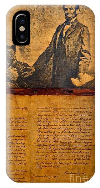Abraham Lincoln The Gettysburg Address IPhone Case