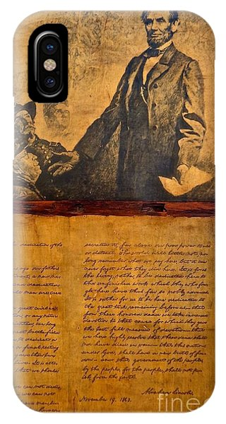 Abraham Lincoln The Gettysburg Address IPhone Case