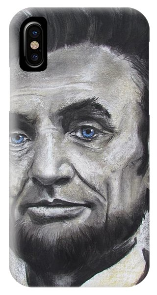 IPhone Case featuring the drawing Abraham Lincoln by Eric Dee