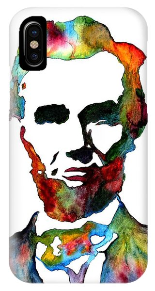 Abraham Lincoln Original Watercolor  IPhone Case