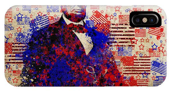 Abraham Lincoln With Flags IPhone Case
