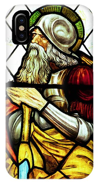 Pre-modern iPhone Case - Abraham The Patriarch In Stained Glass by Philip Ralley