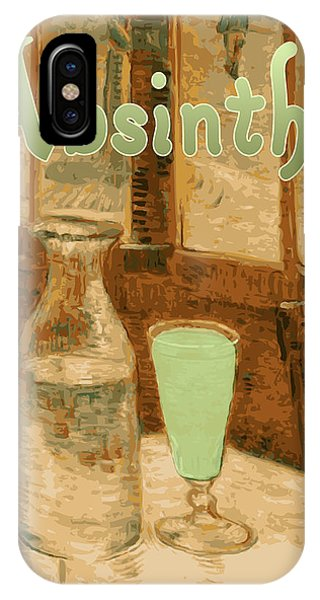iPhone Case - Absinthe Art Nouveau Advertisement by
