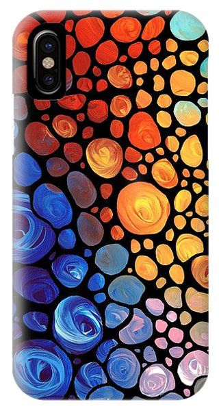 Aqua iPhone Case - Abstract 1 - Colorful Mosaic Art - Sharon Cummings by Sharon Cummings