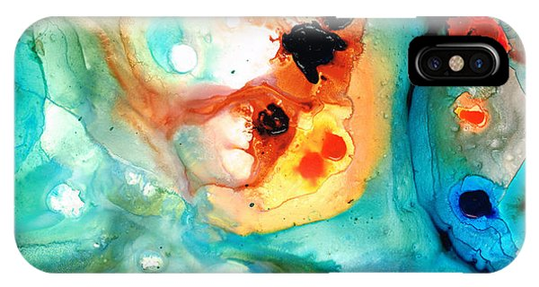 Scuba Diving iPhone Case - Abstract 5 - Abstract Art By Sharon Cummings by Sharon Cummings