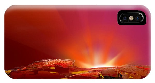 Abstract - Alien Sunrise IPhone Case