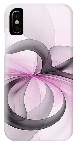 Abstract Art Fractal With Pink IPhone Case