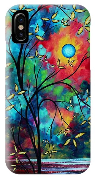 Violet iPhone Case - Abstract Art Landscape Tree Blossoms Sea Painting Under The Light Of The Moon II By Madart by Megan Duncanson