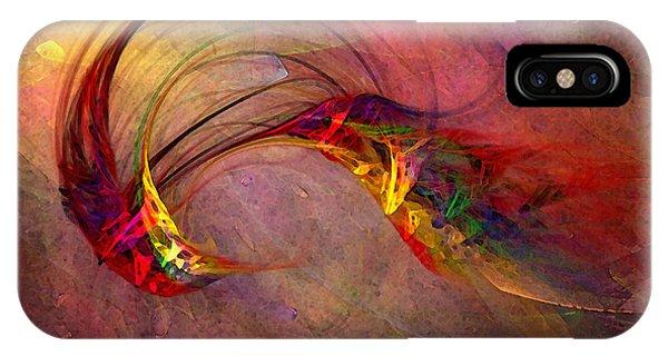 Luminous iPhone Case - Abstract Art Print Hummingbird by Karin Kuhlmann