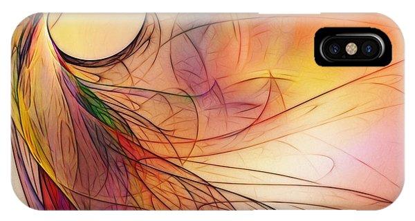 Luminous iPhone Case - Abstract Art Print Sunday Morning Sidewalk by Karin Kuhlmann