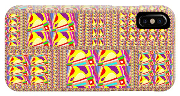 Technical iPhone Case - Abstract Assymatrical Exploed View Golden Pixels   Elevation From Small To Large In Artistic Format  by Navin Joshi
