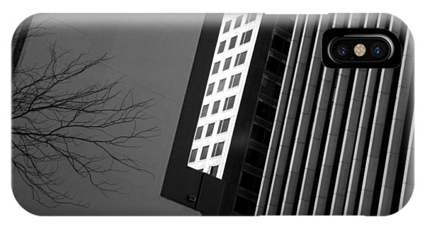 Abstract Building Patterns Black White IPhone Case