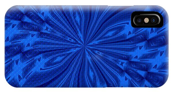 Abstract Butterfly Blue IPhone Case