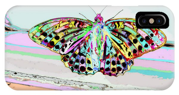Pastel Colors iPhone Case - Abstract Butterfly by Marianna Mills