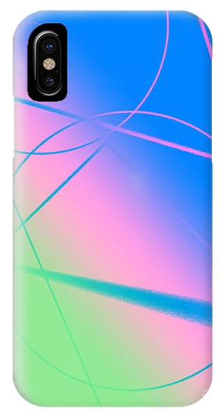 Abstract Circles And Lines IPhone Case