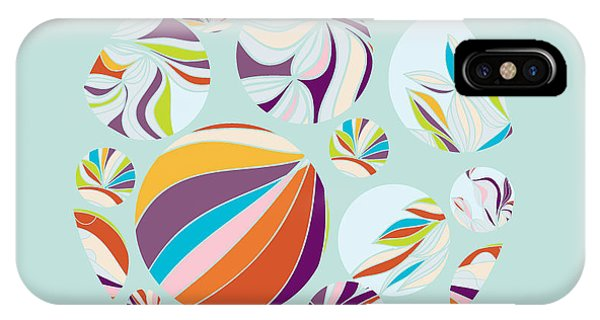 Digital Image iPhone Case - Abstract Circles Background -  With by Run4it