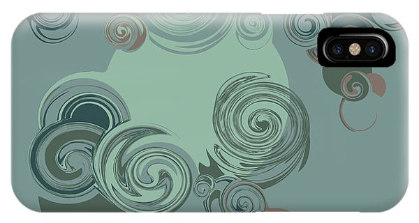 Ornamental iPhone Case - Abstract Circles Pattern Background by Castecodesign