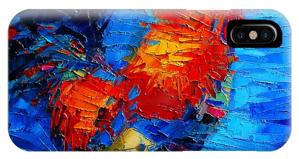 Abstract Colorful Gallic Rooster IPhone Case