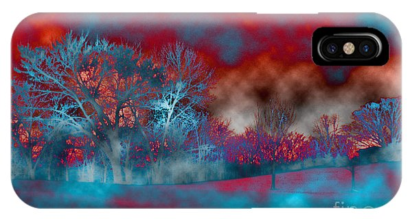 Treeline iPhone Case - Abstract Colorful Snow Day by Minding My  Visions by Adri and Ray