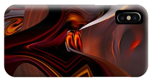 Abstract - Dark Passages IPhone Case