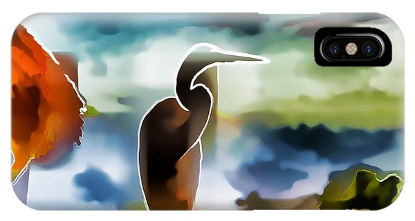 Abstract Egret Profile IPhone Case