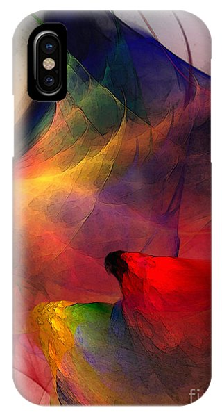 Luminous iPhone Case - Abstract Exotic Birds by Karin Kuhlmann
