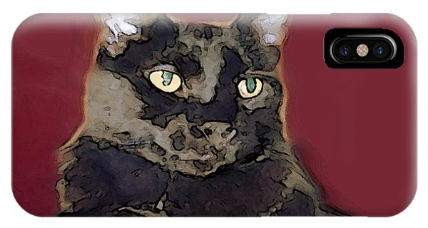 Abstract Feline IPhone Case